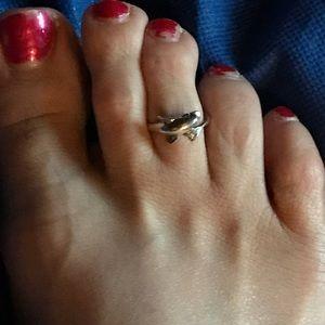 SS Dolphin toe ring